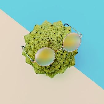 Kapusta i stylowe szklanki. . minimalistyczna sztuka mody