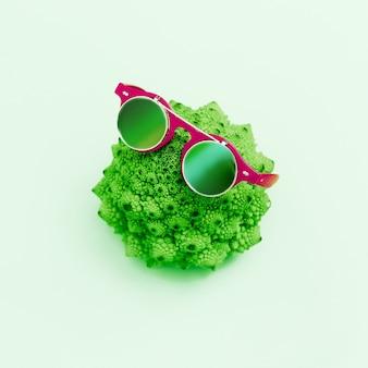 Kapusta i stylowe szklanki. minimalizm moda sztuka