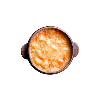 Kapustnyak - tradycyjna ukraińska zimowa zupa z kiszonej kapusty, prosa i mięsa