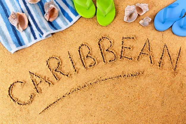 Karaibska plaża tło
