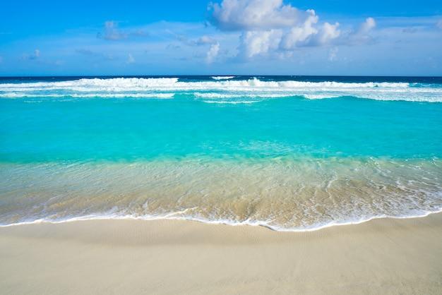 Karaibska turkusowa plaża czyste wody