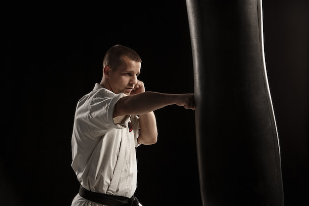 Karate kopie w worek treningowy