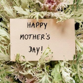 Karta dnia matki z widokiem z góry