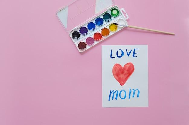 Karta dzień matki happy wykonane przez dziecko