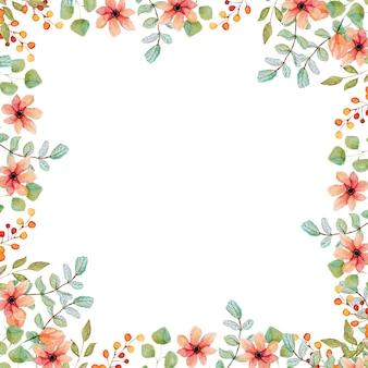 Karta kwiatowy. wiosenna wielkanoc kwiatowy ilustracja circleframe. ferie wiosenne. letnia kolekcja kwiatów ogrodowych różowa róża