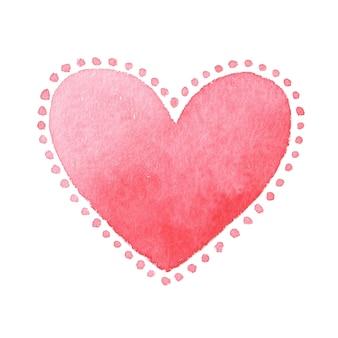 Karta na walentynki, akwarela, miłość.