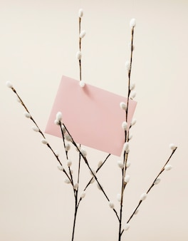 Karta ślub z gałęzi bawełny