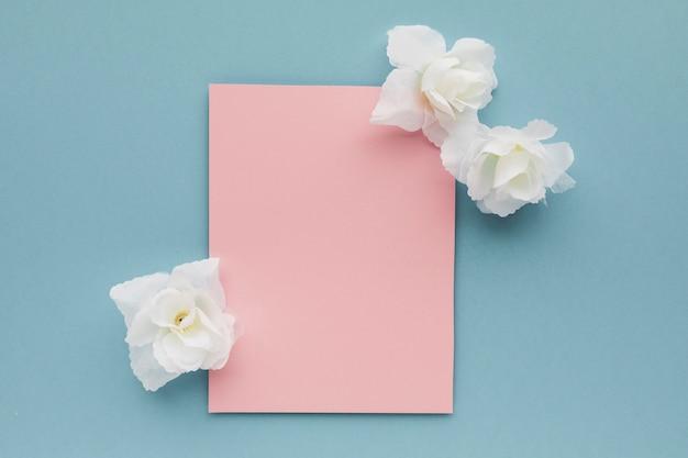 Karta ślub z kwiatami