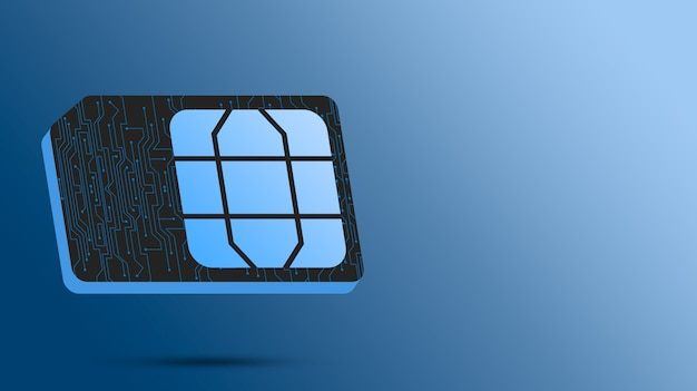 Karta technologiczna sim do telefonu 3d