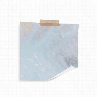 Karteczkę z niebieskim tłem akwareli