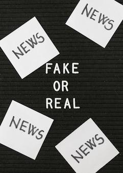 Karteczki samoprzylepne z fałszywymi wiadomościami