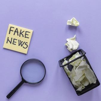 Karteczki z fałszywymi wiadomościami