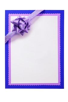 Kartka bożonarodzeniowa łęku dekoraci pusty biały czerwony vertical