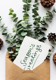 Kartka okolicznościowa sezonu i dekoracji roślin