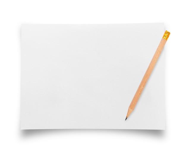 Kartka papieru z ołówkiem