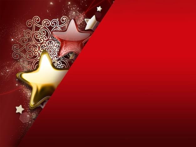 Kartka świąteczna z gwiazdami i płatkami śniegu