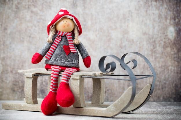 Kartka świąteczna z życzeniami noel gnome