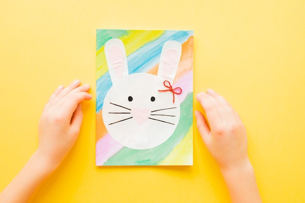 Kartka wielkanocna diy. jak zrobić papierowego króliczka na życzenia wielkanocne.