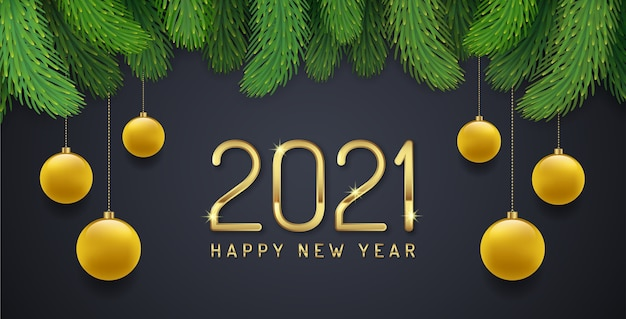 Kartkę z życzeniami szczęśliwego nowego roku 2021