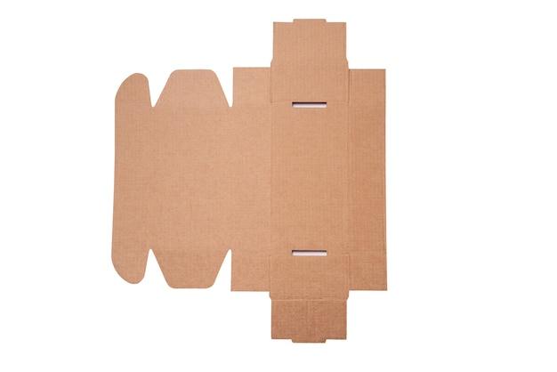 Karton, pudełko kartonowe, etui, widok z góry, izolowane