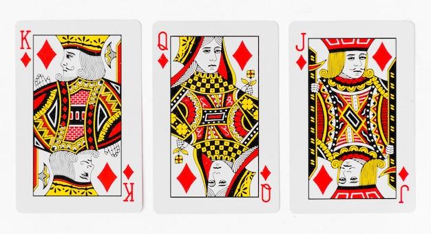 Karty do gry pełno i tylne białe tło makieta
