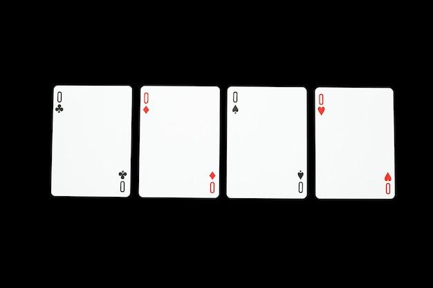 Karty do gry w kasynie pokerowym. poker zero