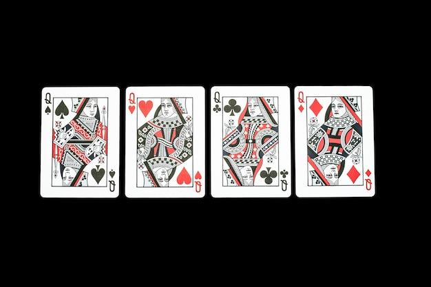 Karty do gry w kasynie pokerowym