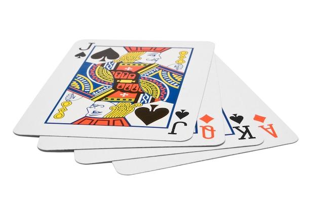 Karty na białym tle