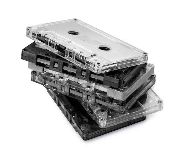 Kaseta audio na białym tle