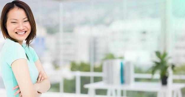 Kask osiągnięciem całkiem businesswoman zwycięstwo