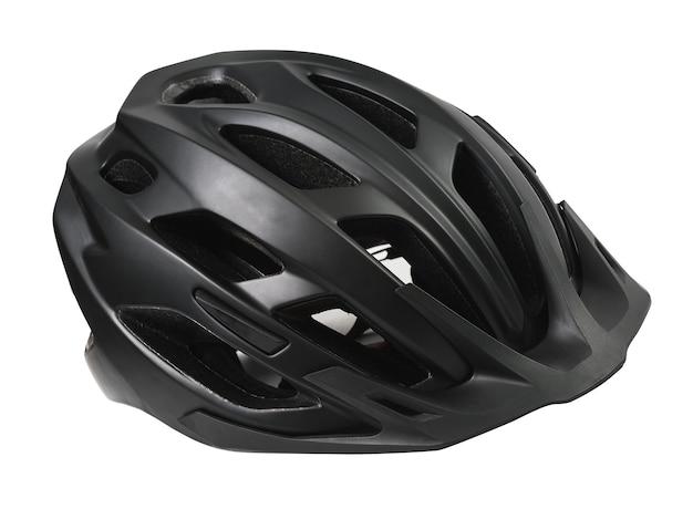 Kask rowerowy na białym tle. ochronne nakrycia głowy.