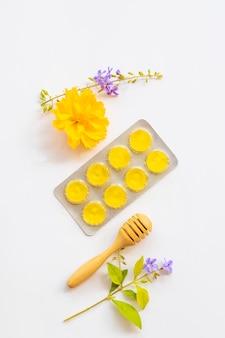 Kaszel, ból gardła, ekstrakt z pastylki miód cytryna