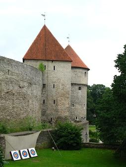 Kasztel w tallinn mieście, estonia