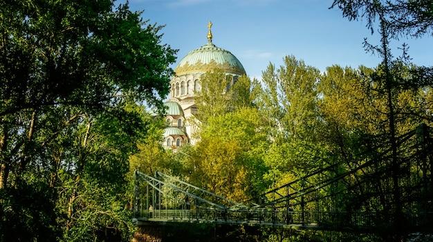 Katedra marynarki wojennej św.mikołaja wonderworker rosyjski sankt petersburg kronsztad