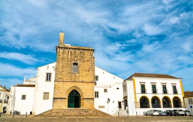 Katedra najświętszej maryi panny w faro w algarve, portugalia