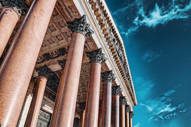 Katedra św. izaaka - największe dzieło architektoniczne. sankt petersburg. rosja.