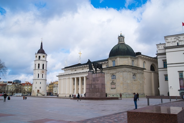 Katedra św. stanisława i św. władysława. wilno, litwa europa