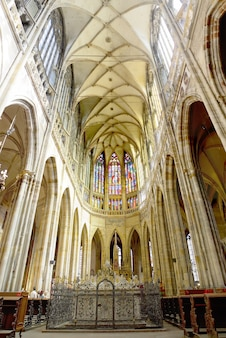 Katedra św. witty wacława i voitehawidok wnętrza