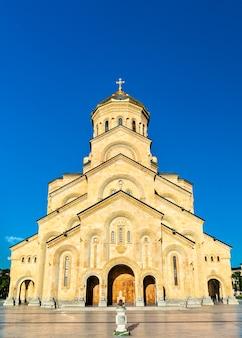 Katedra świętej trójcy w tbilisi w gruzji