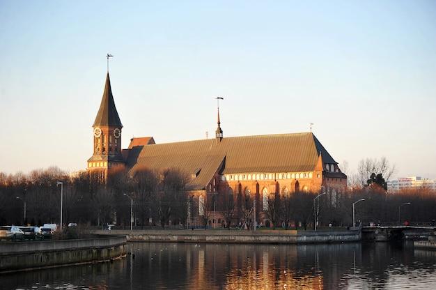 Katedra w królewcu dom w kaliningradzie, rosja