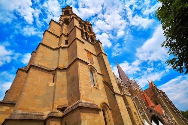 Katedra w lausanne notre dame w szwajcarii