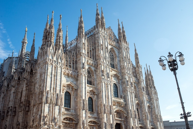 Katedra w mediolanie (duomo di milano) fasada