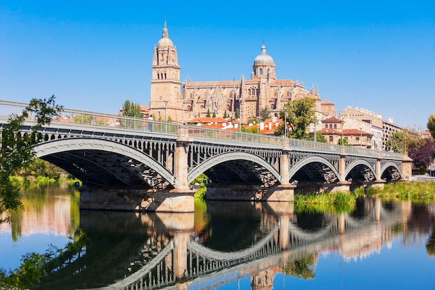 Katedra w salamance to późnogotycka i barokowa katedra w mieście salamanca, kastylii i leonie w hiszpanii