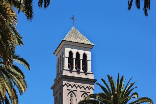 Katedra w valparaiso, wybrzeże pacyfiku, chile