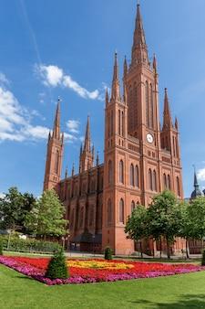 Katedra w wiesbaden, niemcy.