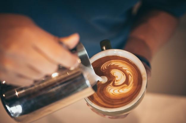 Kawa latte art, filiżanka kawy