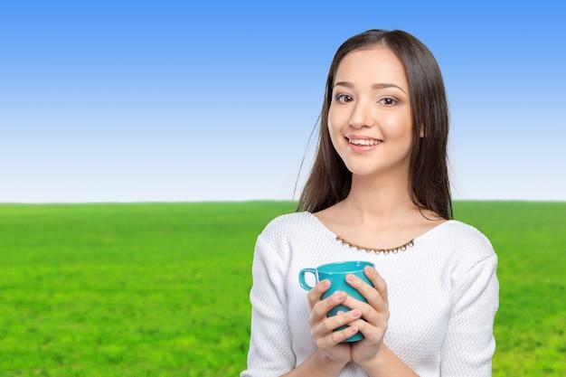 Kawa ma portret kobiety young