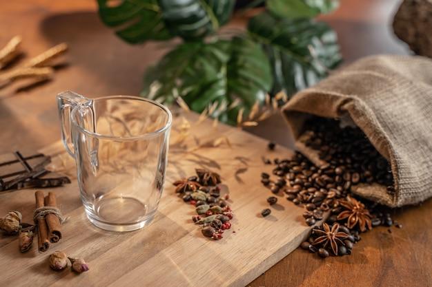 Kawa martwa natura z kopią miejsca na tekst