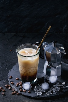 Kawa mrożona ze śmietaną