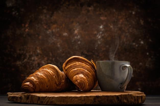 Kawa z rogalikiem